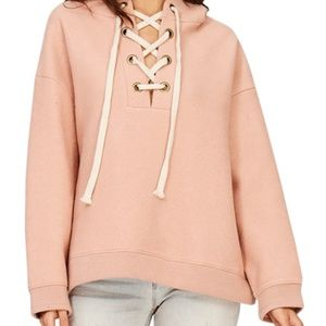 🆑 Cozy Lace-Up Oversize Pullover Hoody
